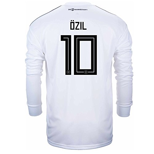 adidas Ozil #10 Germany Home Soccer Long Sleeve Stadium Jersey World Cup Russia 2018 (M)