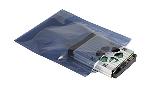 Supershield Antistatic Shielding ESD Bag, Premium Static Shield Bag, Anti Static, Reusable, IC3650-628-2S-7X10IN, Top Open, 10^11, 3 mil, 7' x 10' (Pack of 100)