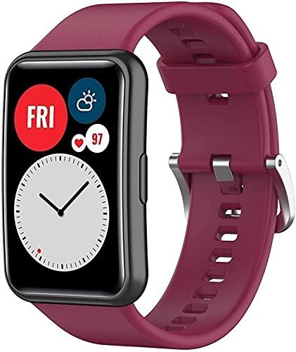 Bande di orologi in silicone for Wei Watch IN FORMA Cinturino, cinturino a sgancio rapido for cinturini for cinturini for Wei Band 6 (Band Color : Wine, Size : 22.7mm)