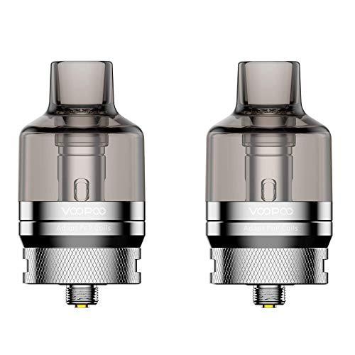 Voopoo PnP Pod Tank 4,5 ml, Verdampfer für e-Zigarette, inkl. 2 Coils, silber