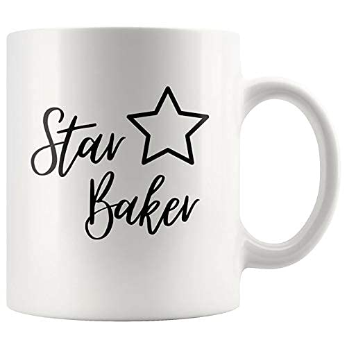 N\A Taza de la Estrella Tazas de café Panadero Regalo Divertido para los panaderos Día Mother39s Regalo pastelería Che