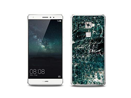 etuo Handyhülle für Huawei Mate S - Hülle, Silikon, Gummi Schutzhülle - Grüner Marmor
