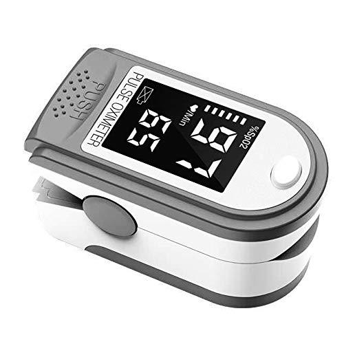 negaor Tragbares Fingerspitzenoximeter L-ED-Display Blutsauerstoff-Pulsfrequenzmesser für Familienreisen (weiß)