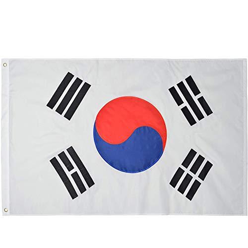 韓国国旗 韓国の旗150×90cm特大大韓民国国旗 Korean flag 太極旗 柔らかくて快適スポーツ 観戦 応援 フラッグ オリンピック 祝日 新年 運動会 代表応援用 市民の日 スポーツ 応援グッズ ワールドカップ 国旗 (Korea)