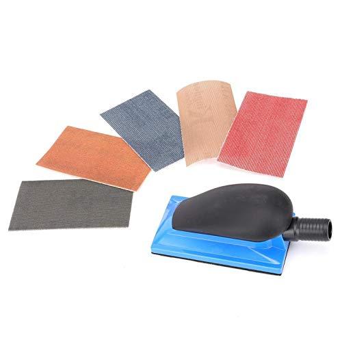 Manuelle Schleifplatte Schleifen Schleifschwammblock Polierwerkzeug mit starker Viskosität Staubabsaugblock zum Holzpolieren, Gebäudereinigen, Autoreparatur(Type A)