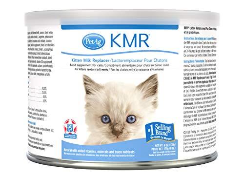 PetAg KMR Poudre de Substitution de Lait pour Chaton – Prébiotiques et probiotiques – Nouveau-né à Six semaines – Formule pour Chaton – 170,1 g