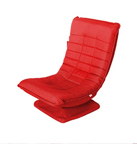 YLCJ Folding Sofa with 360 Degree Rotation and Removable Bottom Cover for Home Use for Games Reading Watching TV-Red