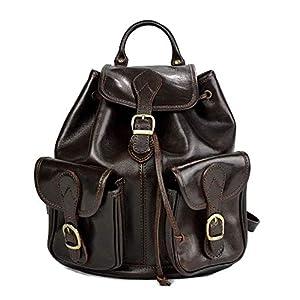 41P3gzF 9pL. SS300  - Mochila de piel marron oscuro mochila piel mochila hombre mujer mochila de viaje mochila de cuero mochila sport bolso de espalda piel