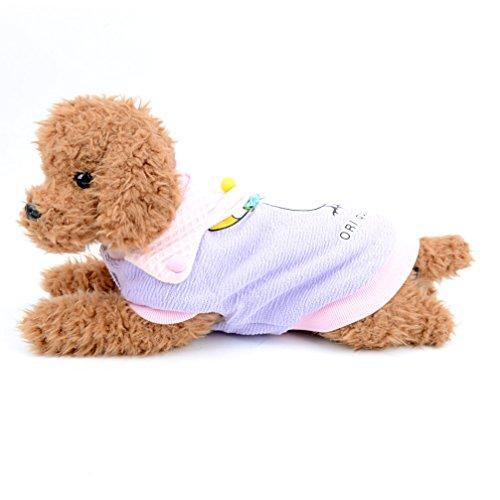 ranphy Kleiner Hund Katze niedlichen Fleece mit T-Shirts Swan Print Hund Winter Kleidung Doggy Apparel für kaltes Wetter Coat Puppy Sweatshirt