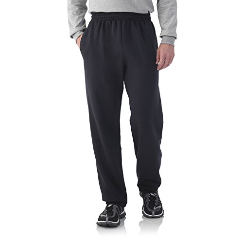 Fruit of the Loom Best Collection&#8482 Men's Fleece Elastic Bottom Pant XXX-Large Black