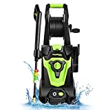 PowRyte Elite Electric Pressure Washer, Power Washer, 4 Different Pressure Tips, Hose Reel, 4000 PSI 3.0 GPM Best for Cleaning Car, Home, Driveway, Deck