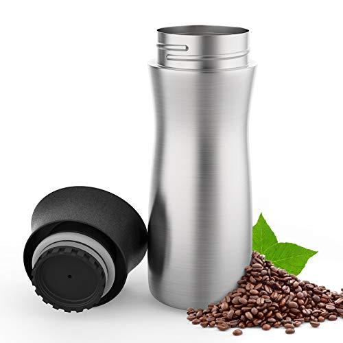 ValueTalks Tazza Termica da Viaggio per caffè 300ml,Thermos Termica da Bere in Acciaio Inossidabile con Chiusura Quick Press