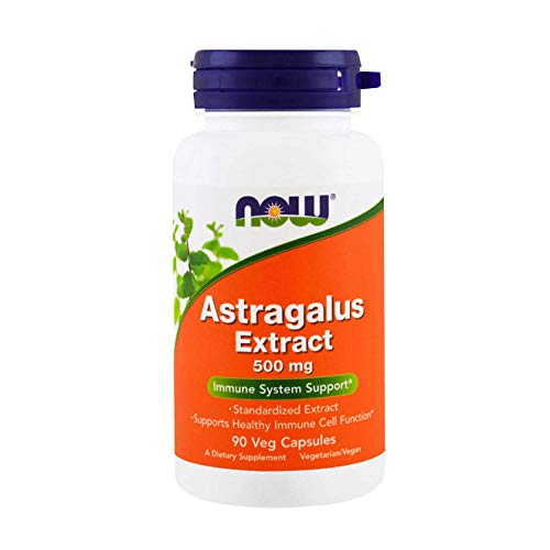 NOW Supplements, Astragalus Extract 500 mg (Standardized to 70% Polysaccharides), 90 Veg Capsules