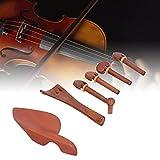 KUIDAMOS Piezas de Cordal de violín, duraderas para un Uso prolongado Mano de Obra Exquisita Hermoso Color de Madera Natural violines 4/4 Juego de Piezas de violín para Tocar el violín
