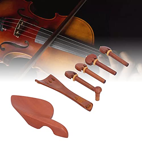 BOLORAMO Juego de Piezas de violín, Mejora la penetración Durable para Uso prolongado Piezas de Cordal de violín Mano de Obra Exquisita para violines
