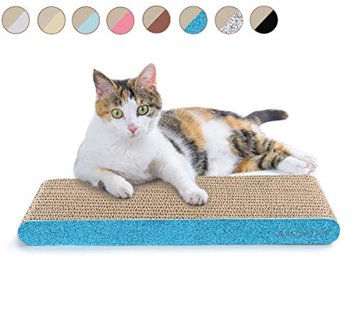 AMZNOVA Cat Scratcher, Cardboard Cat Scratchers, Durable & Recyclable Scratch Pad, Colors Series,...