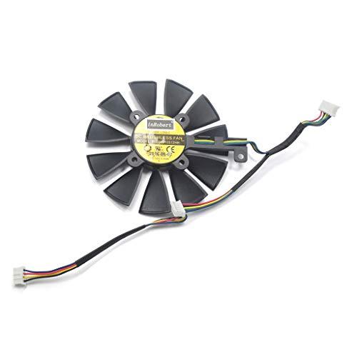 Yintiod GPU kühler Grafikkartenkühler, 87MM PLD09210S12M PLD09210S12HH Lüfter Ersetzen Sie den Grafikkartenlüfter