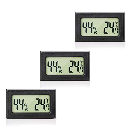 MAVORI® Digital Mini Innen Thermometer Hygrometer - Zimmerthermometer und Luftfeuchtigkeitsmessgerät für Wohn- und Büroräume, Keller, Terrarium, Auto - NEUES MODELL (3)
