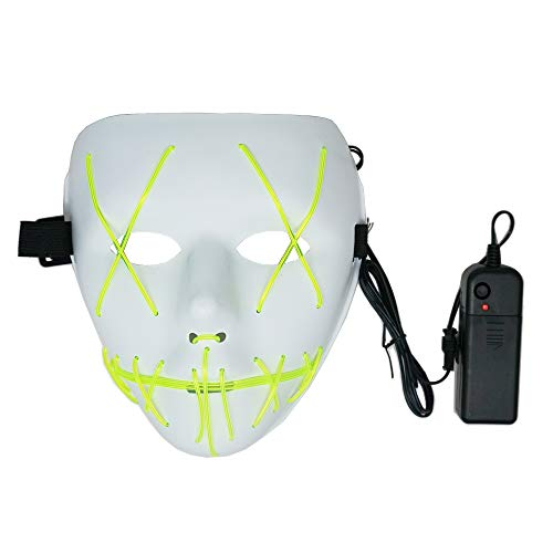 ZALU Halloween-Maske, leuchtende Masken, LED-Beleuchtung Large Zitrone