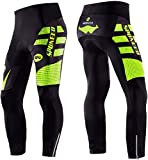 sponeed Men's Cycling Pants Padded 4D Gel Autumn Style Winter Bicycle Tights Cushioned Tights Cycle Leggings Bottoms US XL Green