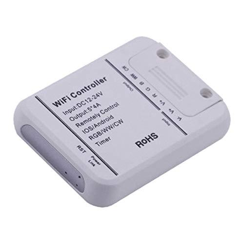 Kamenda Controlador de Tira de Luz Wifi Controlador de Luz LED Inteligente AtenuacióN de TeléFono RGB Adecuado para Amazon Alexa, Home