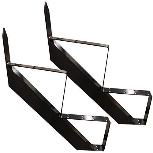 Treppenrahmen 2-10 Stufen-Wahl Stahl-Treppe Schwarz Treppenholm/Wählen Sie die Stufen-Anzahl (2 stufig)