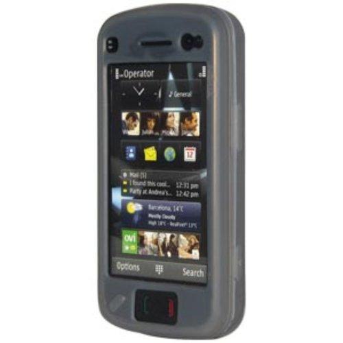 Amzer Silikonhülle für Nokia N97, Rauchgrau