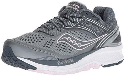 Saucony Women's S10470-1 Echelon 7 Running Shoe, Slate/Pink - 10.5 XW US