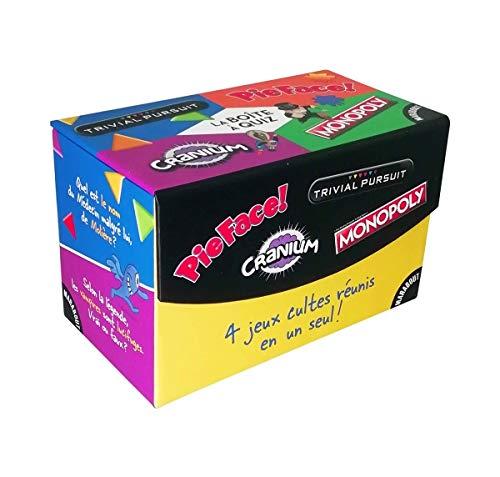 La boîte de jeu Cranium-Monopoly-Trivial Pursuit-Pie Face
