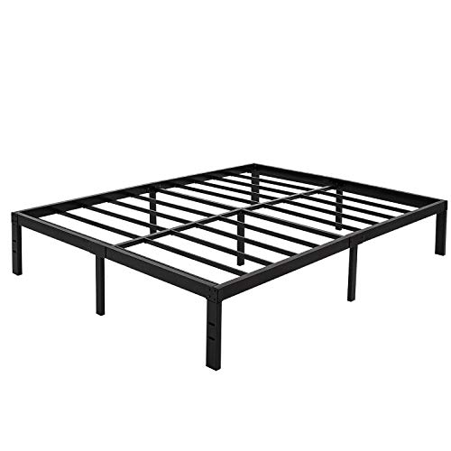 45MinST 14 Inch Platform Bed Frame/Easy Assembly Mattress Foundation / 3000lbs Heavy Duty Steel Slat/Noise Free/No Box Spring Needed, Twin/Full/Queen/King/Cal King(King)