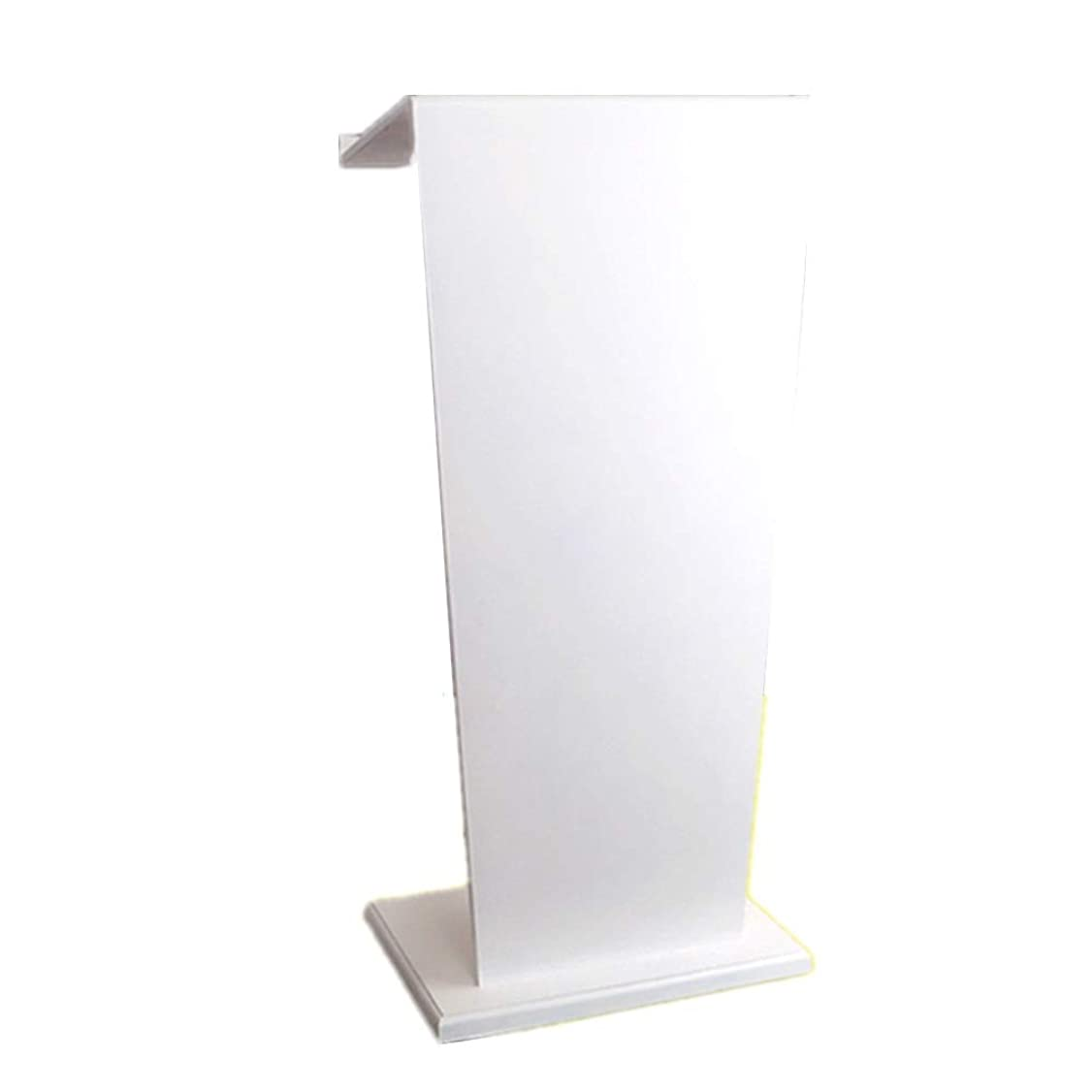 無許可ブラジャー規範エレガントな表彰台 木製書見台表彰台ホスティングレセプションデスク書見台表彰台卓上プレゼンテーション表彰台 安定していて実用的 (色 : 白, Size : As picture)