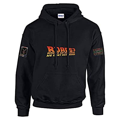 Roads? Where We're Going We Don't Need Roads Hoodie, Unisex