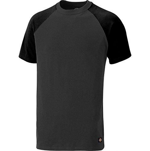 Dickies Footwear SH2007 T-Shirt aus 100% Baumwolle, zweifarbig, Grau/Schwarz, Größe