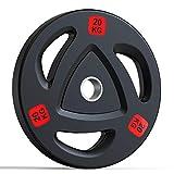 AWAHM 5/10/15/20Kg Conjunto De Placas De Peso De Barbell Profesional Olímpico En El Hogar Equipo De Entrenamiento De Fitness Placa De Levantamiento De Peso