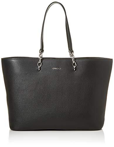 HUGO Damen Victoria Shopper-P 10224014 01, Schwarz (Black), 15x29x44 cm (B x H x T)