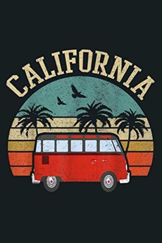 California Hippie Van Outfit Surf CA Vintage Surfer Gift: Notebook Planner -6x9 inch Daily Planner Journal, To Do List Notebook, Daily Organizer, 114 Pages