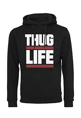 Thug Life Hoodie Block Logo (S, schwarz)