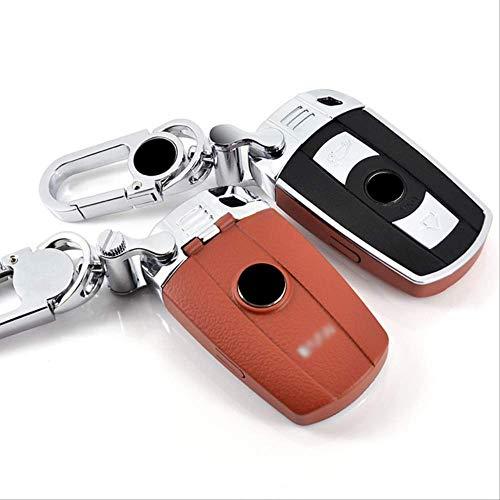 GGOII Schlüsselfall 1Stk ABS Auto Fernbedienung Schlüsselanhänger Gehäuse Kettenabdeckung Passend für BMW E63 E64 E84 E83 E70 E71 E72Orange