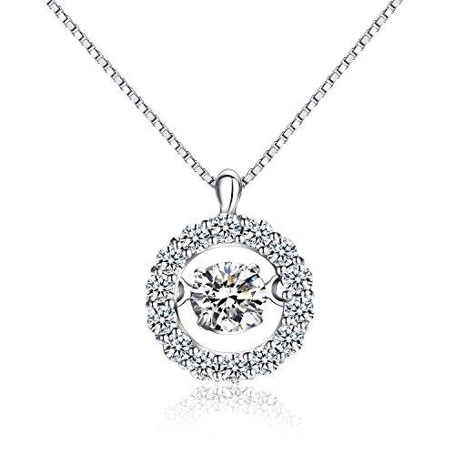 jiamiaoi Damen Halskette Silber Charms Anhänger Silber kettenanhänger Kette Damen Kettenanhänger Silberkette Diamante Halskette Kette Schmuck fur Damen