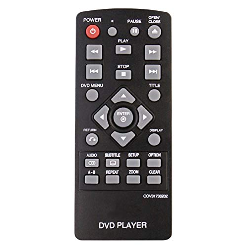 Beyution New COV31736202 Remote Control Compatible with LG DVD Player DP132 DP132NU (COV 3173 6202