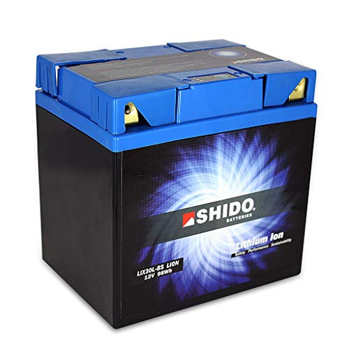 Batterie 12V 8,2AH(30AH) YIX30L-BS Lithium-Ionen Shido-CONNECT 4 Anschlusse FLHTKL ESPFI Electra Glide Limited Low ABS FL3 17-18