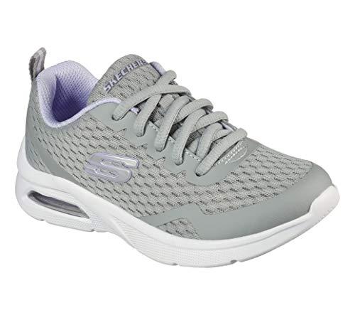 Skechers Mädchen MICROSPEC MAX Electric Jumps Sneaker, Gray, 35.5 EU