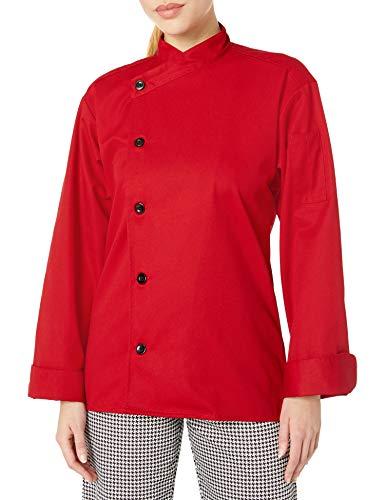 Uncommon Threads Unisex  Rio Chef Coat, Red, XX-Large