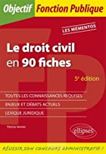 Le droit civil en 90 fiches - 5e édition de Patricia Vannier