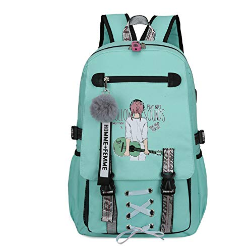 GYCZC Backpack Sports Leisure Backpack Usb Rechargeable Anti-Theft Backpack Male And Female Middle School Students Schoolbag Size: 30X47X14Cm