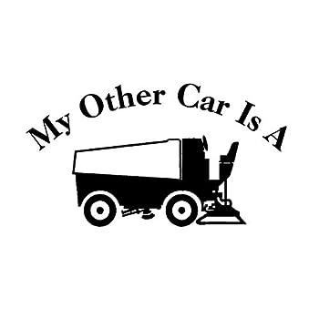 My Other Car is A Zamboni NOK Decal Vinyl Sticker  Cars Trucks Vans Walls Laptop Black 7.5 x 4.5 in NOK724