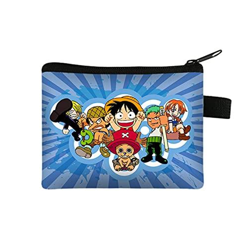 YUMEI Una pieza Luffy - Cartera plegable para niños con monedero y tarjeta para videojuegos