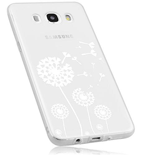 mumbi Hülle kompatibel mit Samsung Galaxy J5 2016 Handy Case Handyhülle mit Motiv Pusteblume, transparent