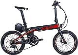 SAVANE E8 Bicicletta elettrica Pieghevole 20' E-Bike in Fibra di Carbonio Pedelec Bici...