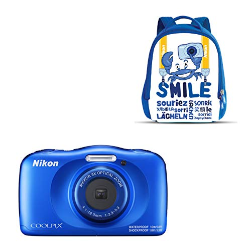 Nikon COOLPIX W150 Kit Cámara compacta 13,2 MP CMOS 4160 x 3120 Pixeles 1/3.1' Azul - Cámara Digital (13,2 MP, 4160 x 3120 Pixeles, CMOS, 3X, Full HD, Azul)